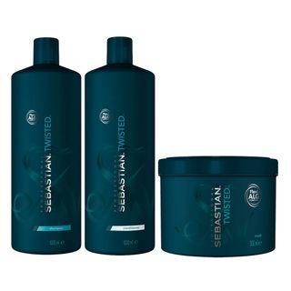 Kit-Twisted-Elastic-Detangler-Sebastian---Shampoo---Condicionador---Mascara---Tamanho-Profissional-