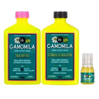 Kit-Camomila-Lola-Cosmetics---Shampoo---Condicionador---Oleo