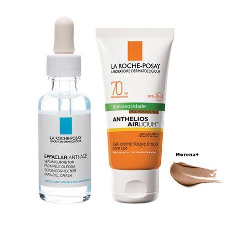 La Roche Posay Effaclar + Anthelios Kit - Sérum Facial + Protetor Solar Morena...