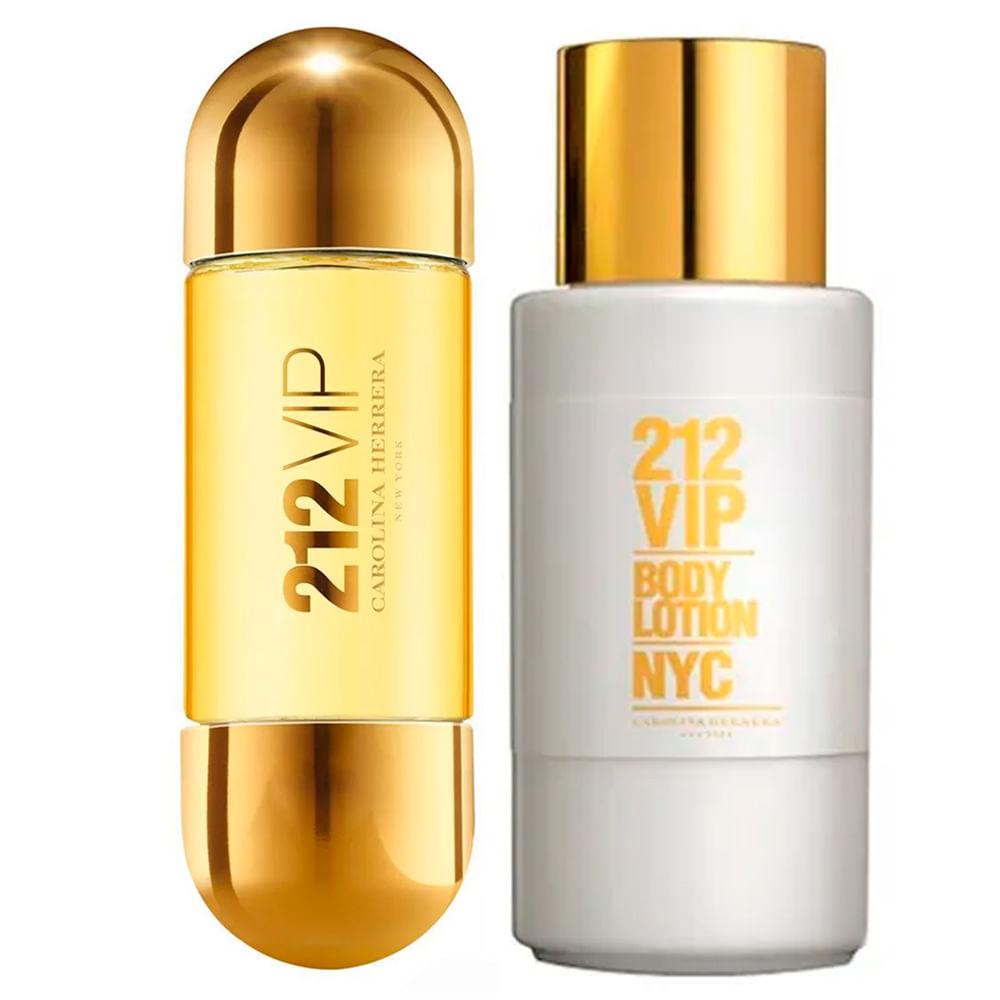 f0d310911 Kit 212 Vip Carolina Herrera - Eau de Parfum + Body Lotion - Época ...