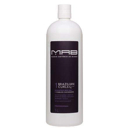 Shampoo Brazilian Curls Tamanho Profissional MAB - 1L