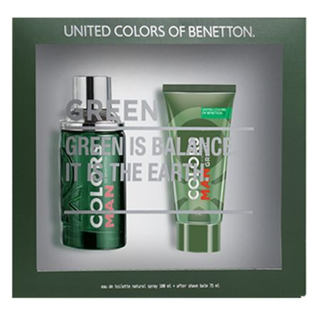 Benetton Colors Man Green Kit - Eau de Toilette + Pós Barba - Kit
