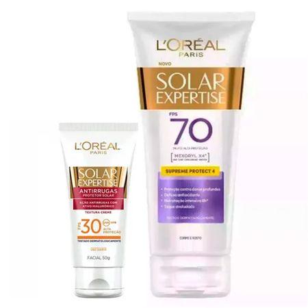 L'Oréal Paris Solar Expertise Ganhe Solar Expertise Facial Antirrugas Kit -...