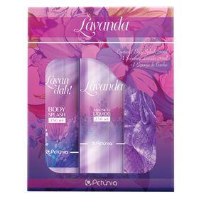petunia-lavanda-kit-body-splash-sabonete-liquido-esponja-de-banho
