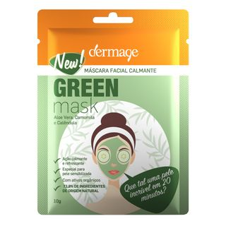 Mascara-Facial-Dermage---Green-Mask-Sache-