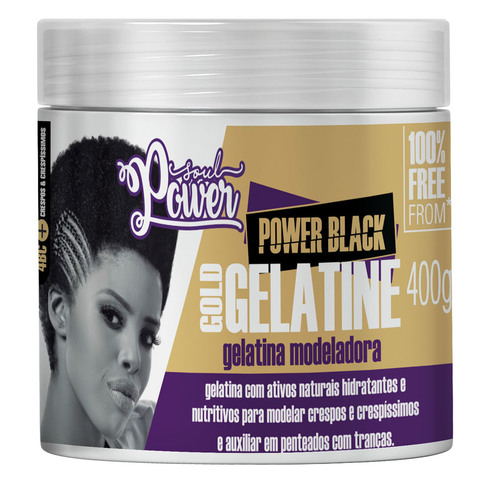 Gelatina Modeladora Soul Power - Power Black Gold Gelatine