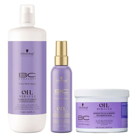 Schwarzkopf BC Oil Miracle Barbary Fig Kit - SH + Masc + Leave-In - Kit