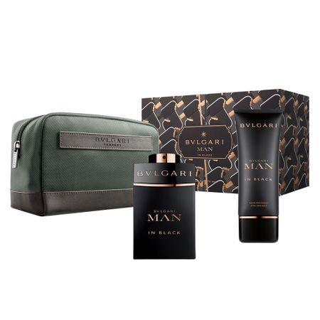 Bvlgari Man in Black Kit - Perfume + Pós-Barba + Necessaire - Kit