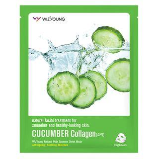 Mascara-Facial-Sisi-Cosmeticos---Wizyoung-Cucumber-Collagen-