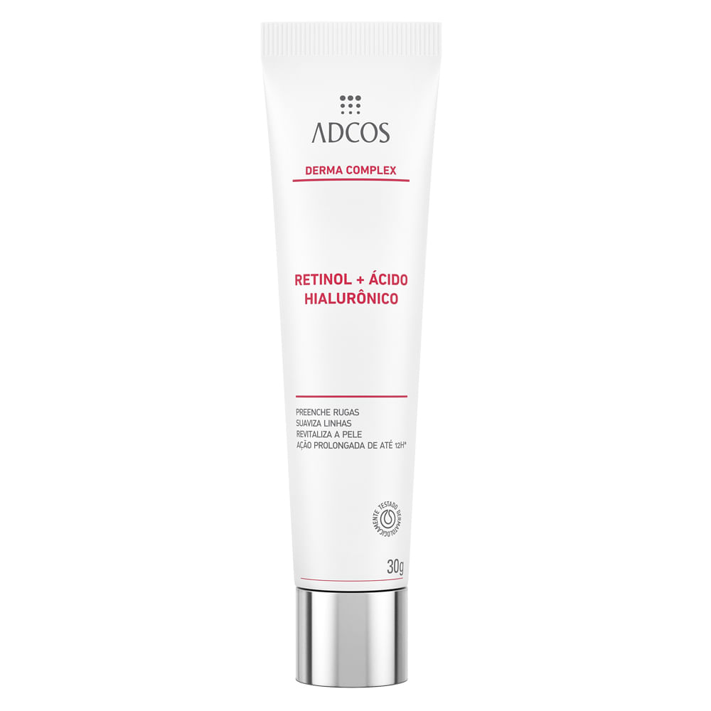 Rejuvenescedor Facial Adcos - Derma Complex Retinol + Hialurônico - 30g