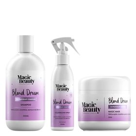 Kit-Blond-Dream-Magic-Beauty---Shampoo---Mascara---Leave-in-