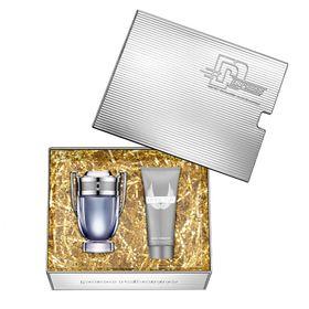 Kit-Invictus-Eau-de-Toilette-Paco-Rabanne---Perfume-Masculino-100ml---Gel-d-eBanho