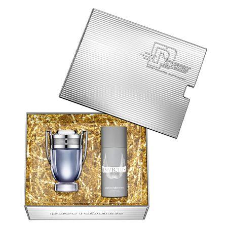 Kit Invictus Eau de Toilette Paco Rabanne - Perfume Masculino 100ml +...