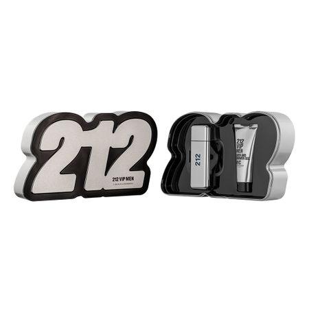 Kit 212 Vip Men Eau de Toilette Carolina Herrera - Perfume Masculino 50ml + Gel...