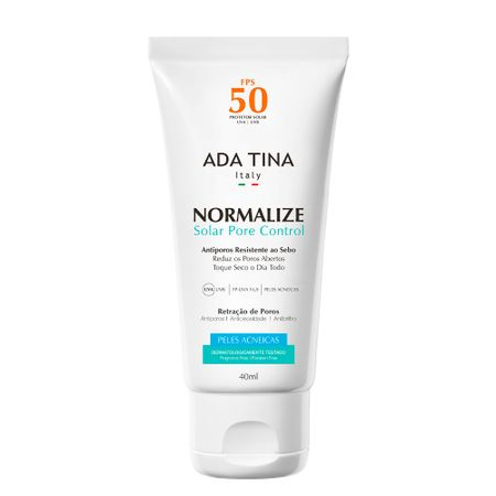 Protetor Solar Ada Tina Normalize Solar Pore Control FPS 50 - 40ml