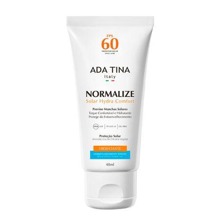 Protetor Solar Ada Tina Normalize Hydra Comfort FPS 60 - 40ml