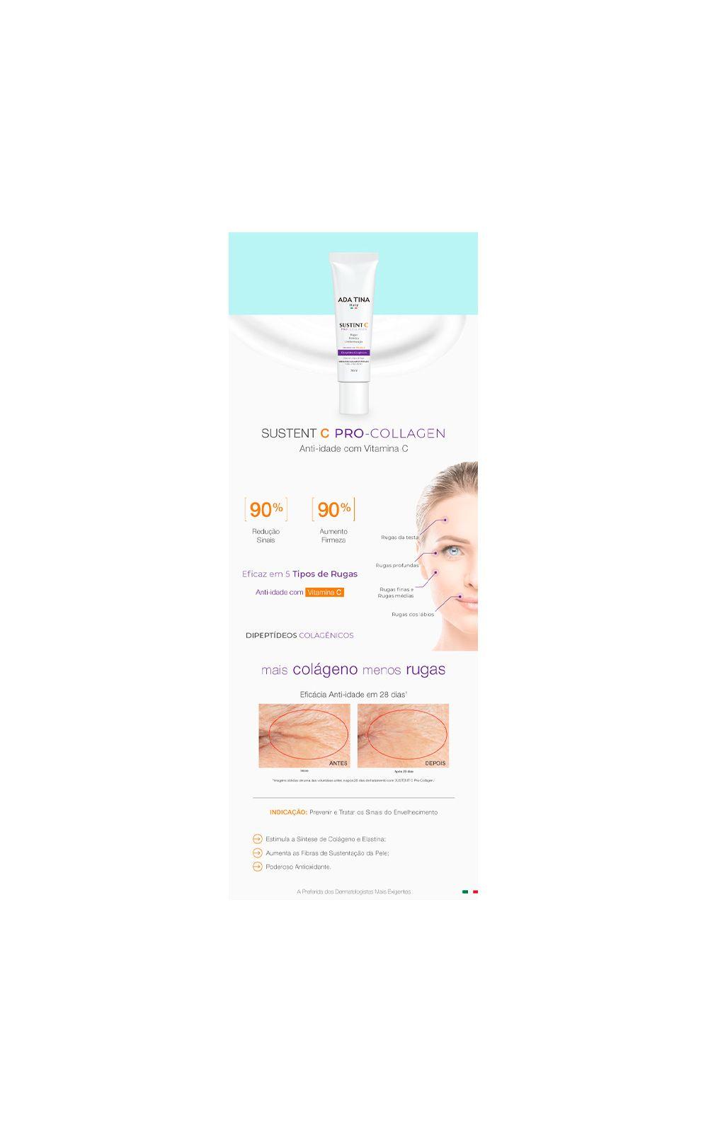 Foto 3 - Rejuvenescedor Facial Ada Tina Sustent C Pro Collagen - 30ml