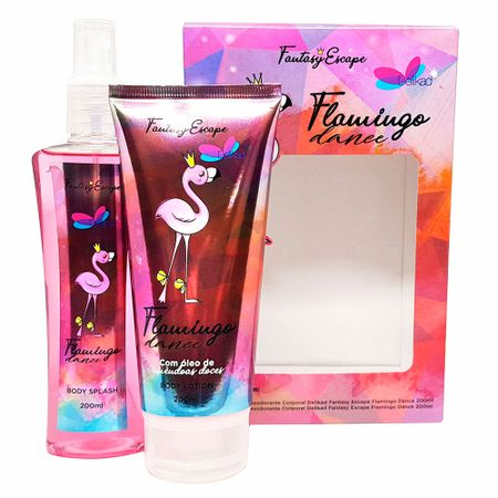 Delikad Fantasy Escape Flamingo Dance Kit - Loção Corporal + Body Splash -...