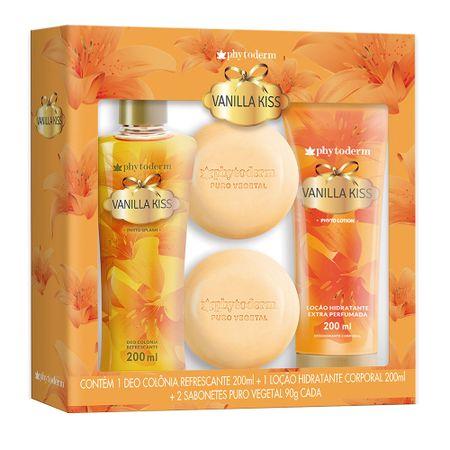 Phytoderm Vanilla Kiss Kit - Deo Colônia + Loção Hidratante + Sabonetes -...