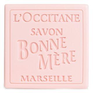 Sabonete-Bonne-Mere-Loccitane-Folhas-rosas
