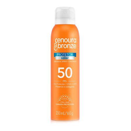 Protetor Solar Aerossol FPS50 Cenoura & Bronze - 200ml