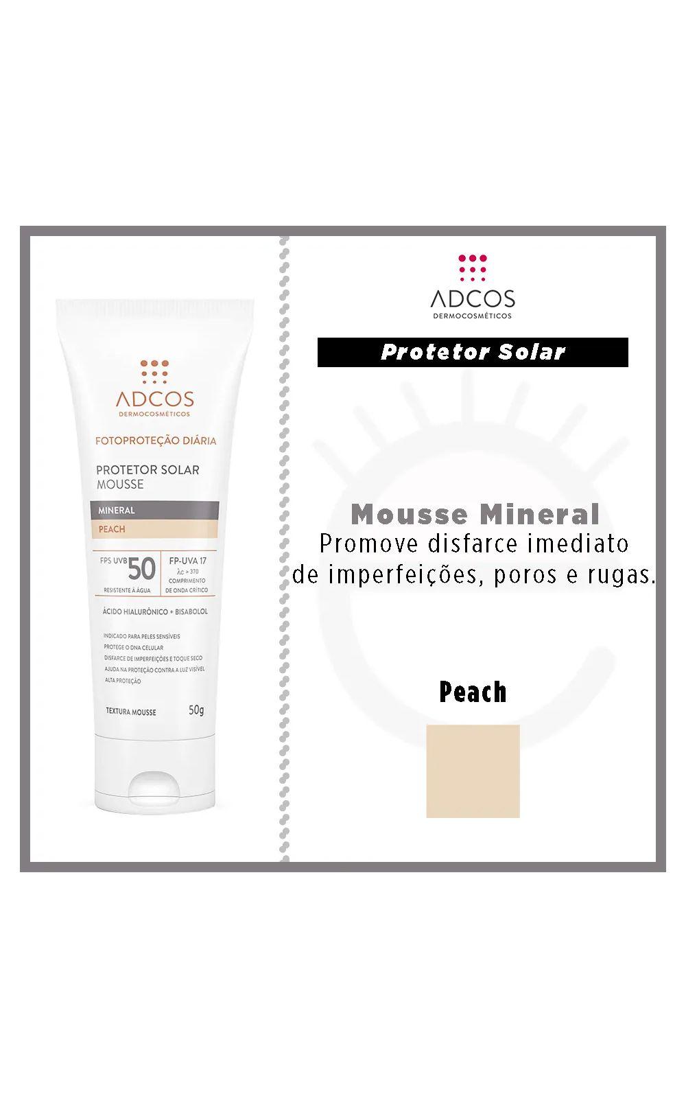 Foto 4 - Protetor Solar ADCOS - Fotoproteção Mousse Mineral - Peach