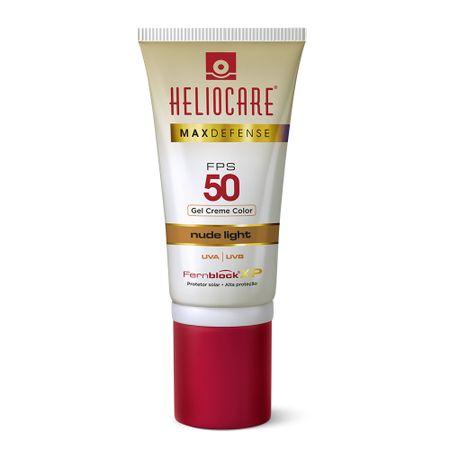 Max Defense Gel Creme Color Heliocare - Protetor Solar - Nude Light