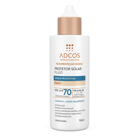 Protetor Solar Adcos Fluid Shield Protection - Peach