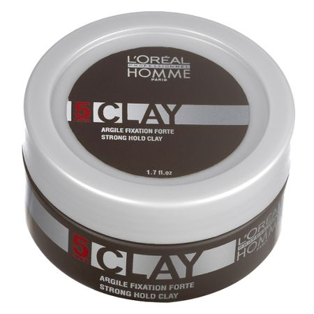 L'Oréal Professionnel Homme Clay Force 5 - Pomada - 50ml