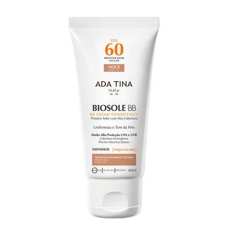 Protetor Solar Adatina Biosole Bb Cream FPS 60 - Noce Cor 45