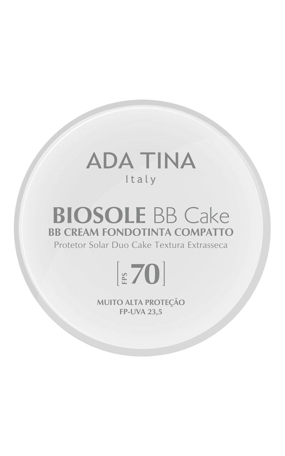 Foto 1 - Protetor Solar Anti Idade Adatina - Biosole Bb Cake FPS 70 - Bianco Cor 15