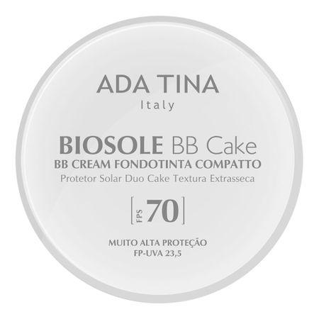 Protetor Solar Anti Idade Adatina - Biosole Bb Cake FPS 70 - Bianco Cor 15