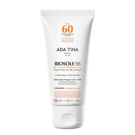 Protetor Solar Anti idade Ada Tina Biosole BB Cake FPS 60 - Bianco
