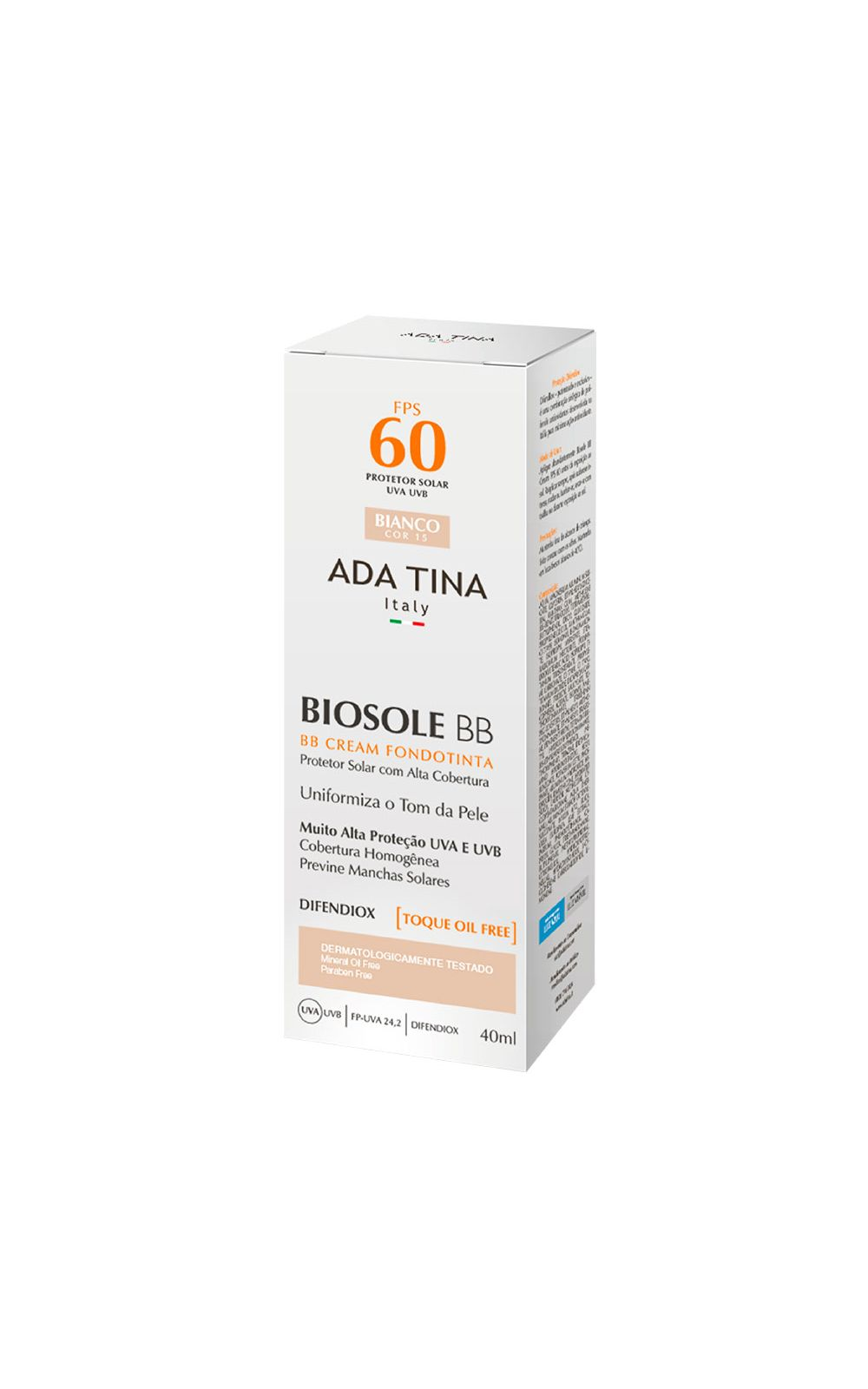 Foto 4 - Protetor Solar Anti idade Ada Tina Biosole BB Cake FPS 60 - Bianco