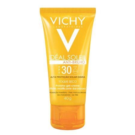 Protetor Solar Facial Vichy - Idéal Soleil Toque Seco FPS30 - 40g