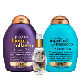 ogx-argan-oil-coconut-milk-e-biotinn-colagen-kit-shampoo-condicionador-serum