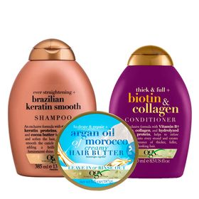 ogx-biotin-colagen-argan-oil-e-brazilian-keratin-smooth-kit-shampoo-condicionador-hair-butter