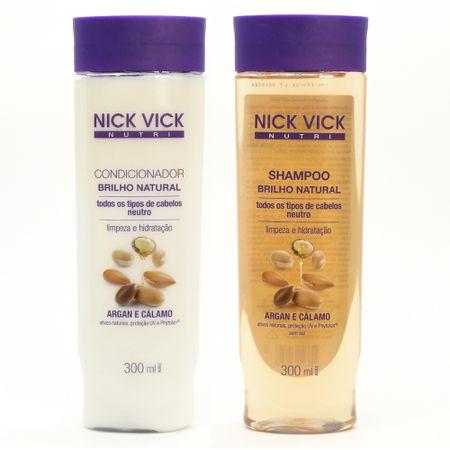 Kit Shampoo + Condicionador Nick & Vick Nutri-Hair Brilho Natural - nenhuma