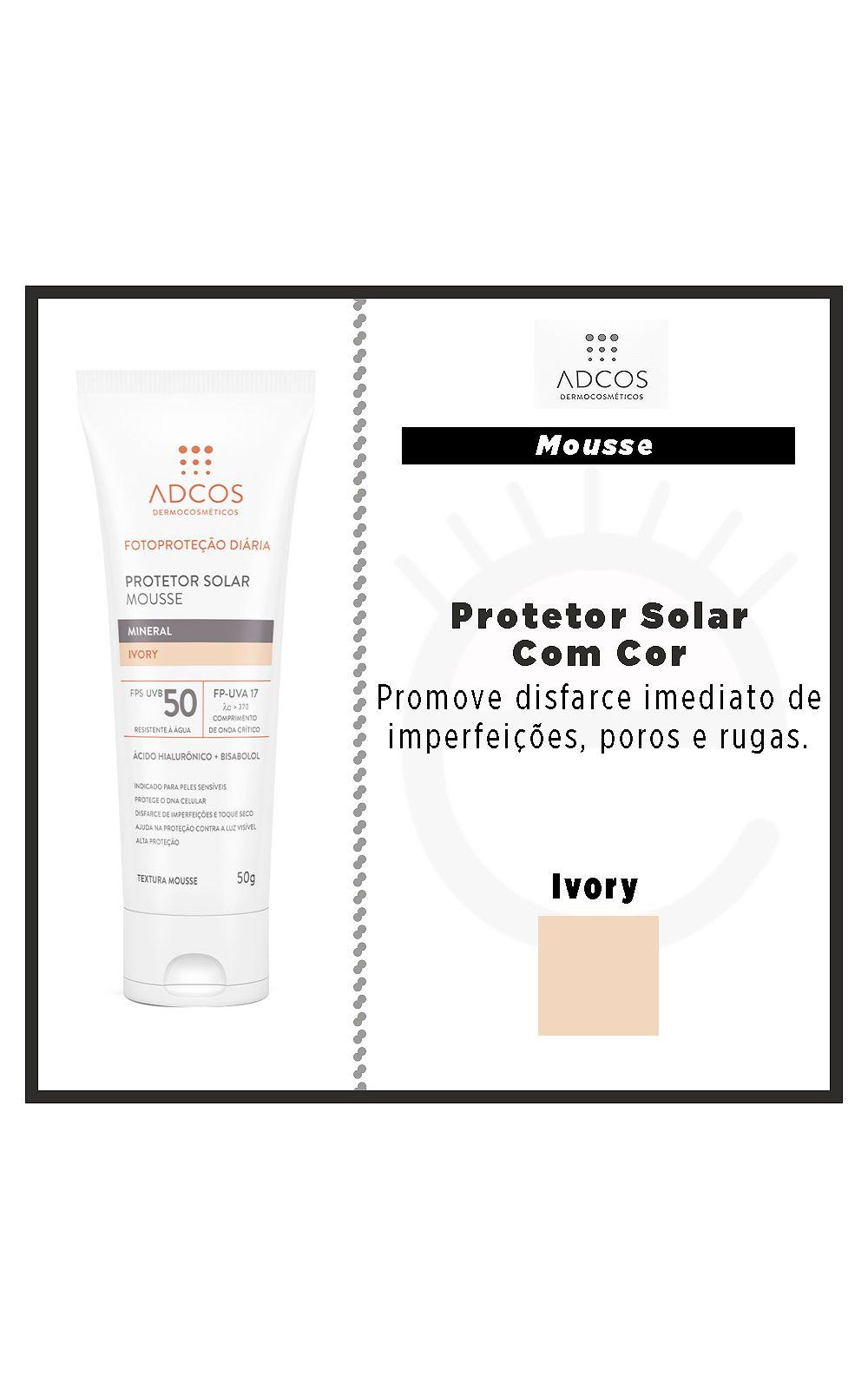 Foto 4 - Protetor Solar ADCOS - Fotoproteção Mousse Mineral Ivory - Ivory