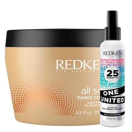 Redken One United + Soft Heavy Cream - Leave-In + Máscara de Hidratação - Kit