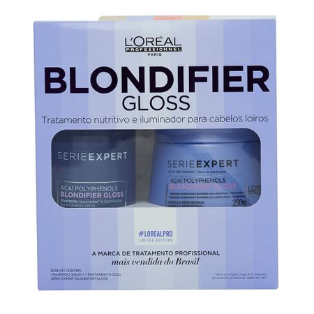 Loréal Professionnel Blondifier Gloss Kit  1 Shampoo Blondifier Gloss 300ml + 1...