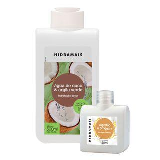 Hidramais-Locao-Hidratante-Kit-–-1-Locao-Hidratante-Agua-de-Coco-e-Argila-Verde-500ml---1-Locao-Hidratante-Algodao-e-Omega-40ml