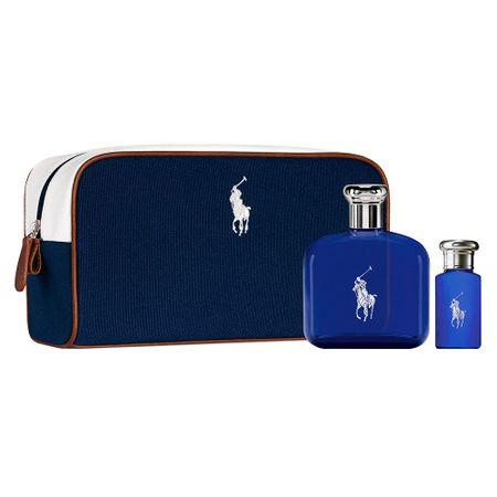 Ralph Lauren Polo Blue Kit  Perfume Masculino EDT + Miniatura + Nécessaire -...