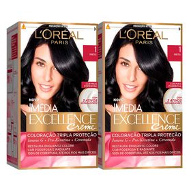 loreal-paris-coloracao-imedia-excellence-1-preto-kit-2-unidades