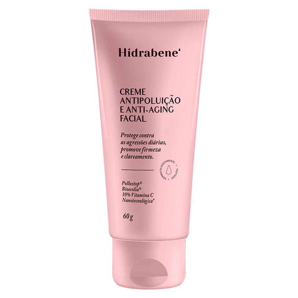 Creme Antipoluição Anti-Aging Facial - Hidrabene - 60g