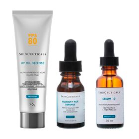 skinceauticals-kit-tratamento-antiacne-15ml-rejuvenescedor-facial-30ml-protetor-solar-fps-80-40g