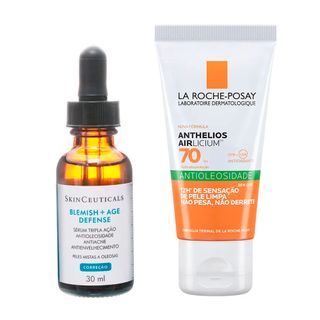 skinceuticals-blemish-e-la-roche-posay-airlicium-kit-serum-facial-protetor-solar