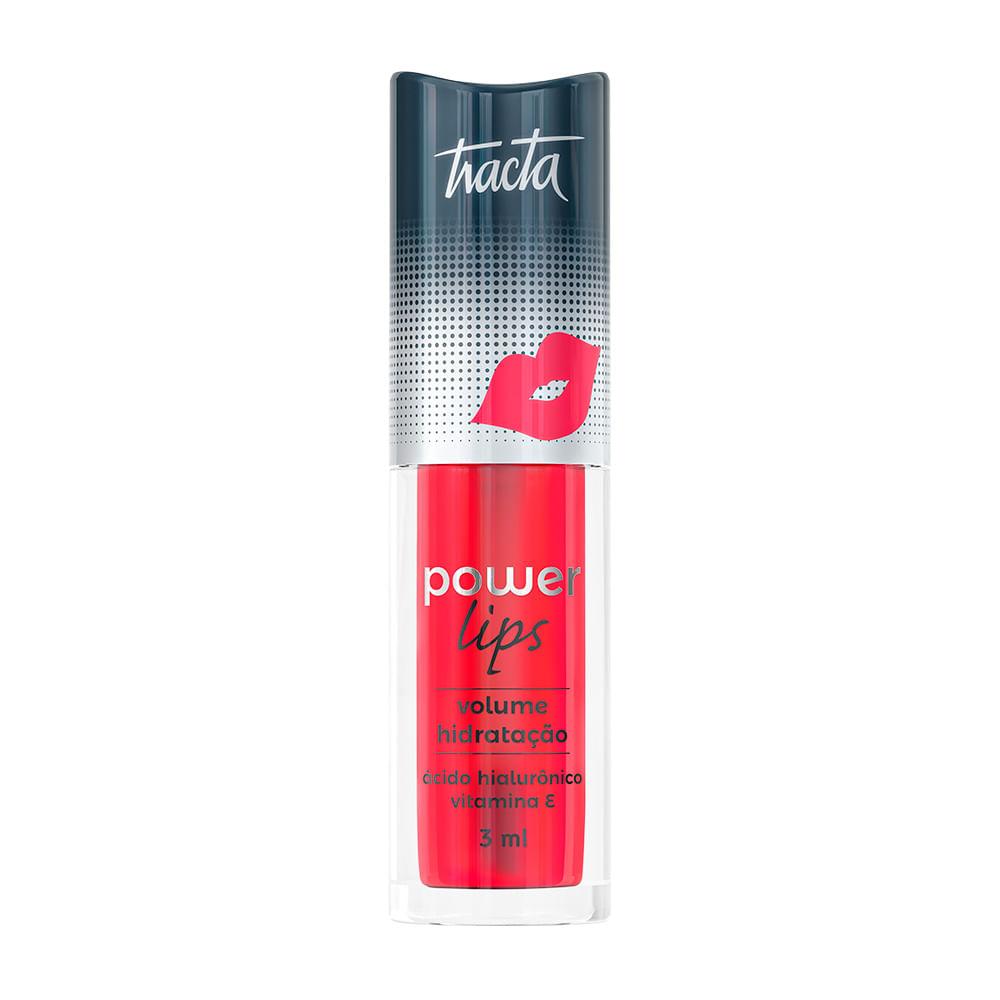 Gloss Labial Tracta Power Lips - Vermelho