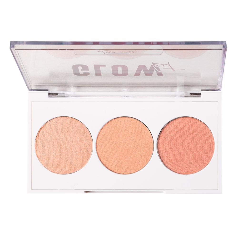 Paleta de Iluminadores Luv Beauty - Glow Kit