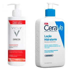vichy-dercos-e-cerave-kit-shampoo-locao-hidratante